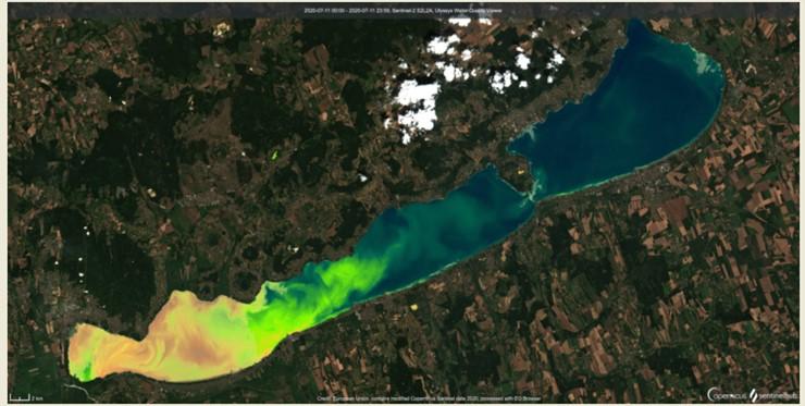 Balaton műholdkép